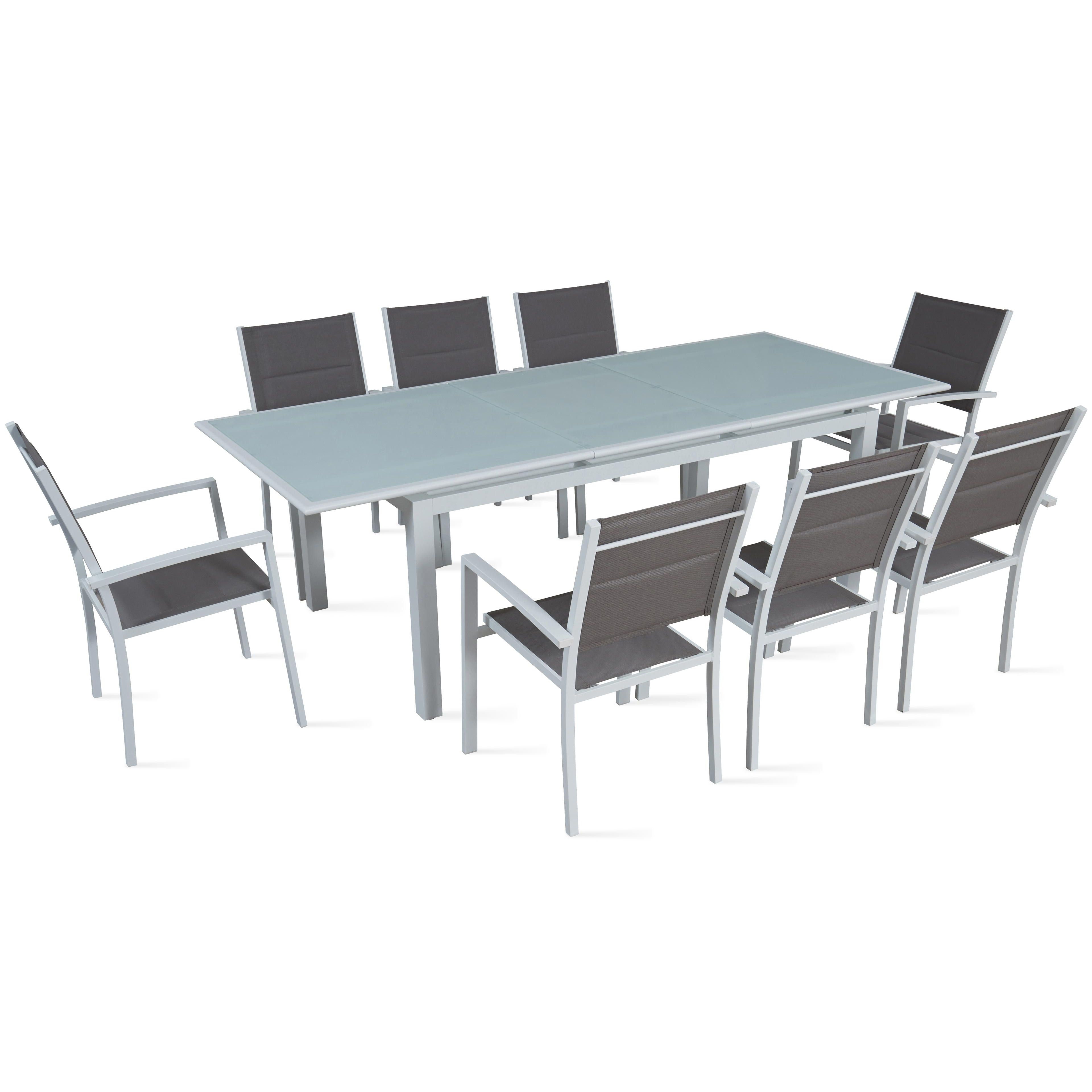 table de jardin rallonge 8 places. Black Bedroom Furniture Sets. Home Design Ideas
