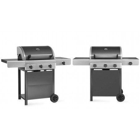 Barbecue gaz 3 brûleurs et feu latéral