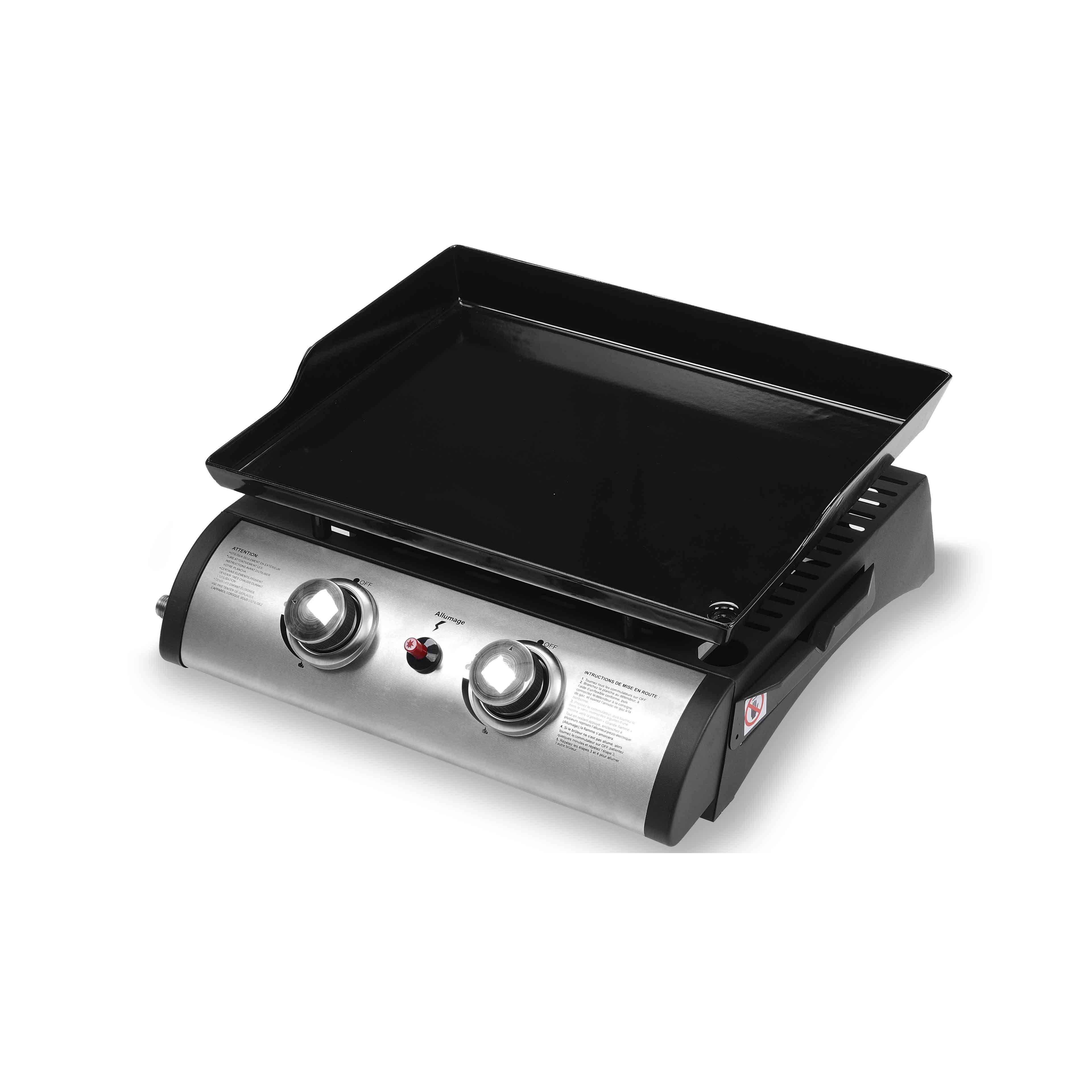 Barbecue Gaz Sans Plancha plancha gaz 2 brûleurs et housse