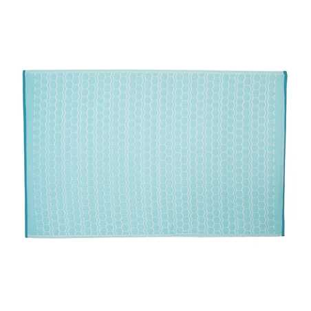 Tapis d'extérieur en PVC bleu