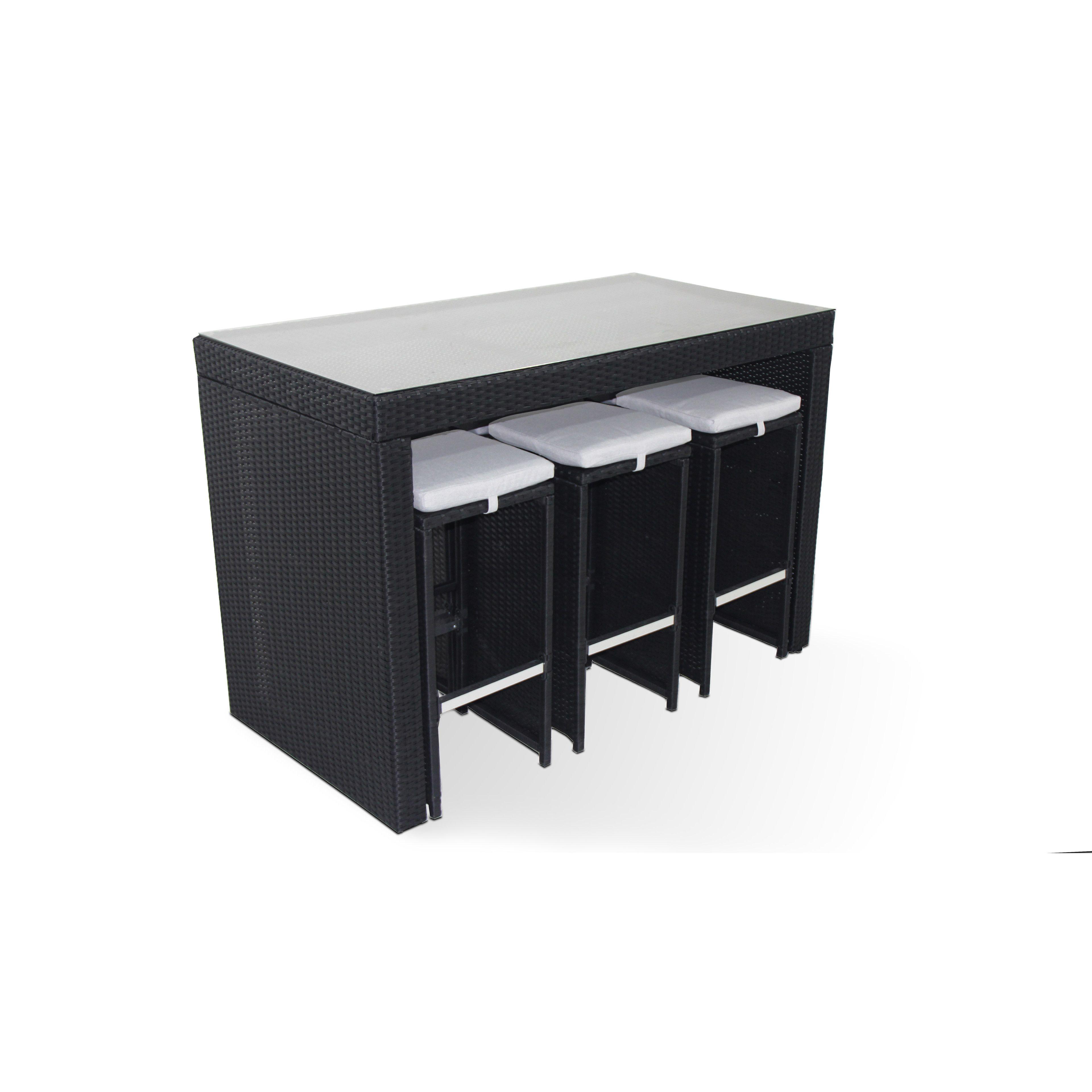 table bar de jardin en r sine tress e. Black Bedroom Furniture Sets. Home Design Ideas