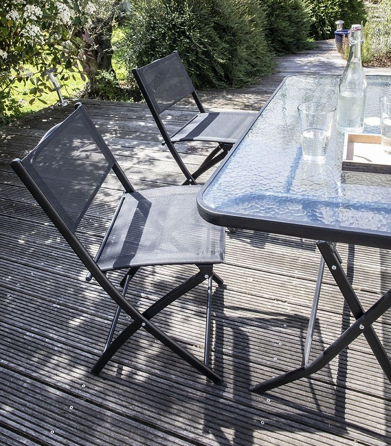 table de jardin pliable 4 places