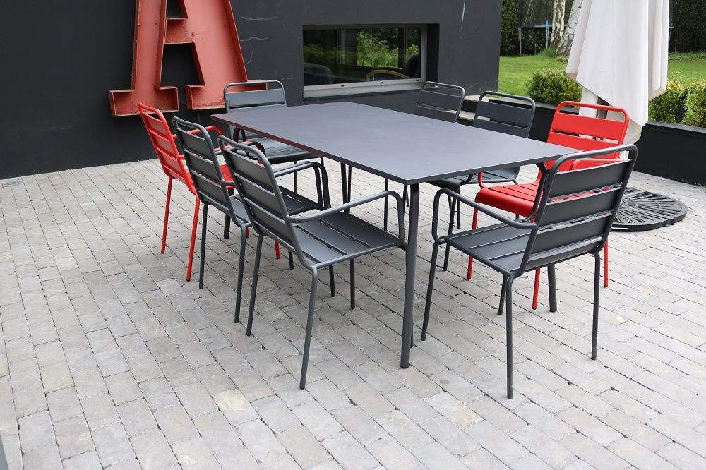 table chaise jardin metal oviala