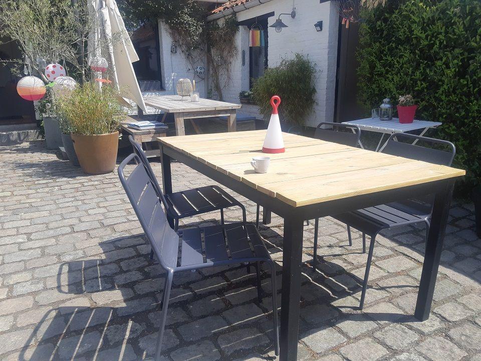 chaise de jardin en métal OVIALA