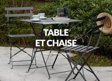 Promo table et chaises de jardin