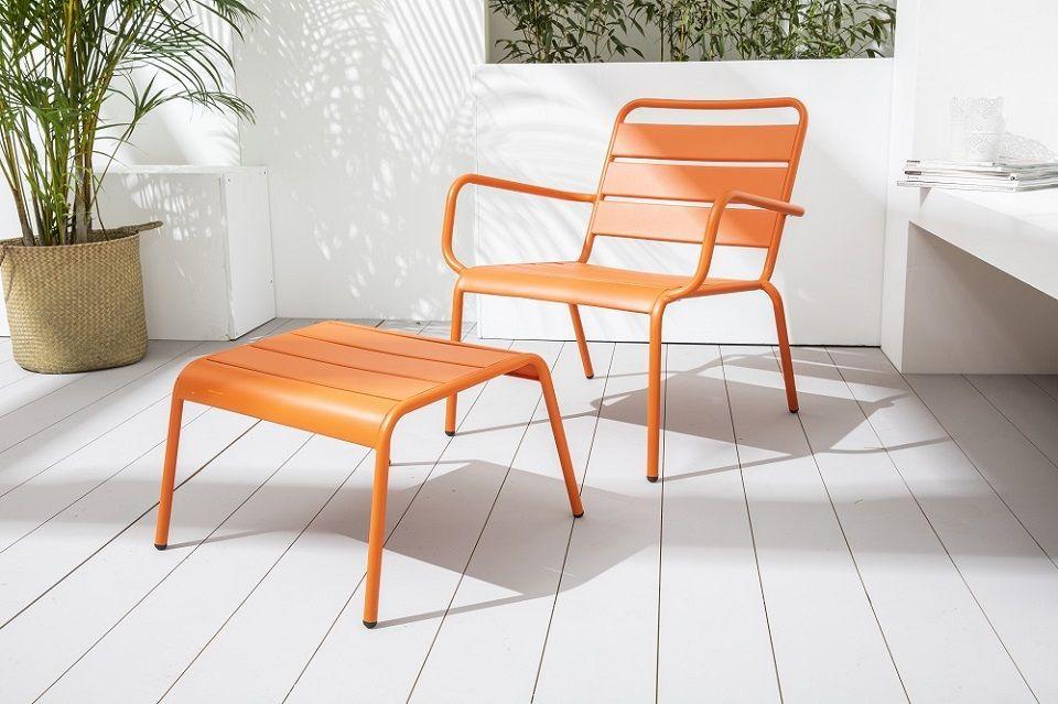 Fauteuil de jardin design orange
