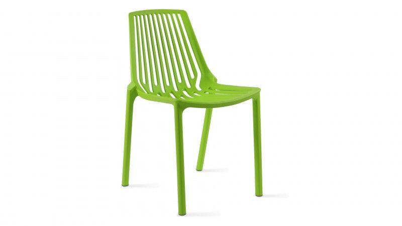 chaise de jardin en plastique Paris verte