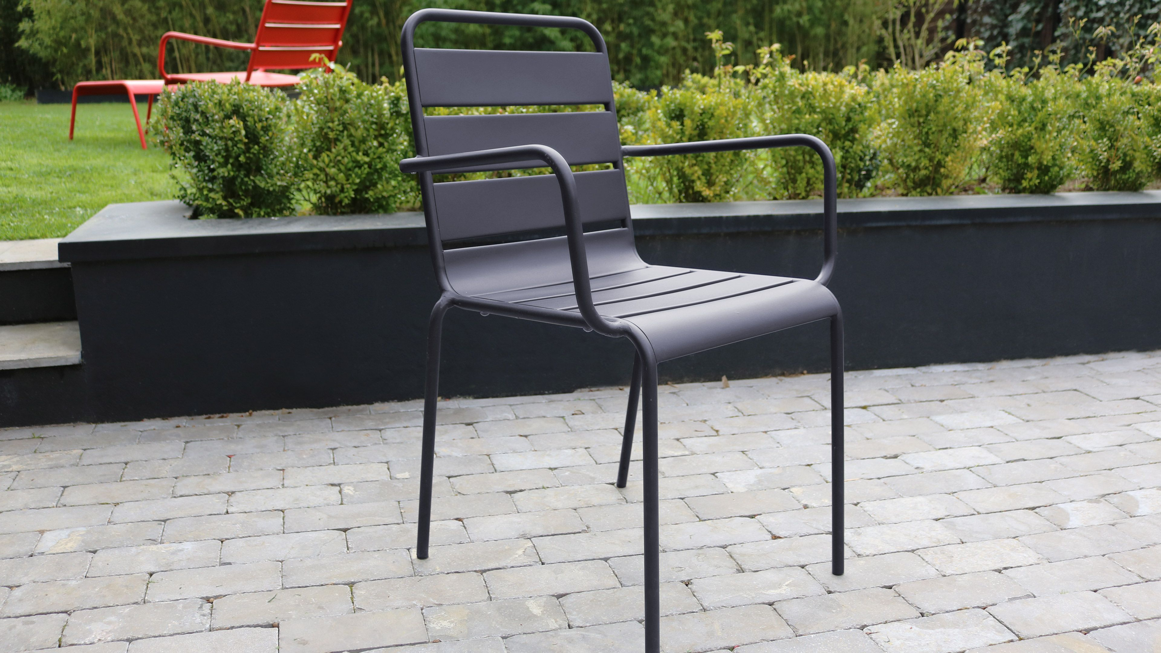 chaise jardin metal gris palavas