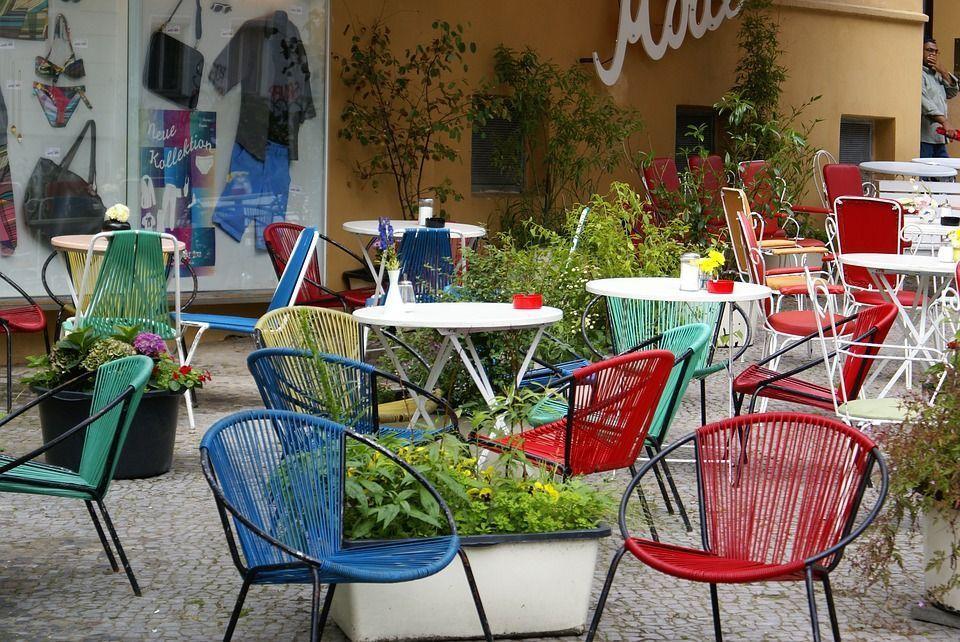chaise industrielle jardin
