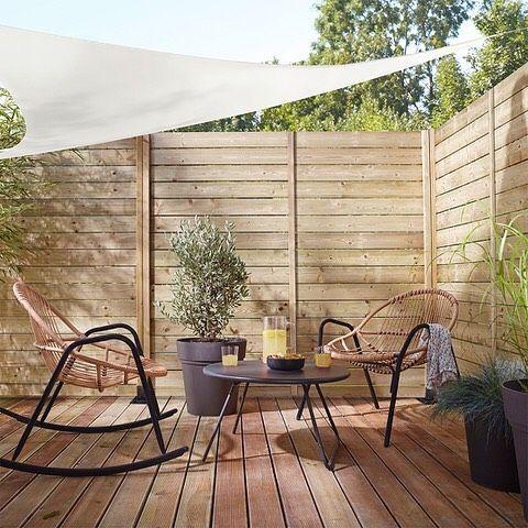 décoration cour mobilier jardin