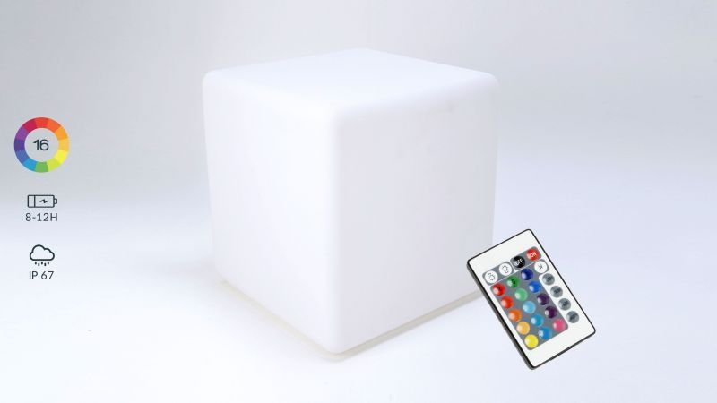 cube LED lumineux rechargeable