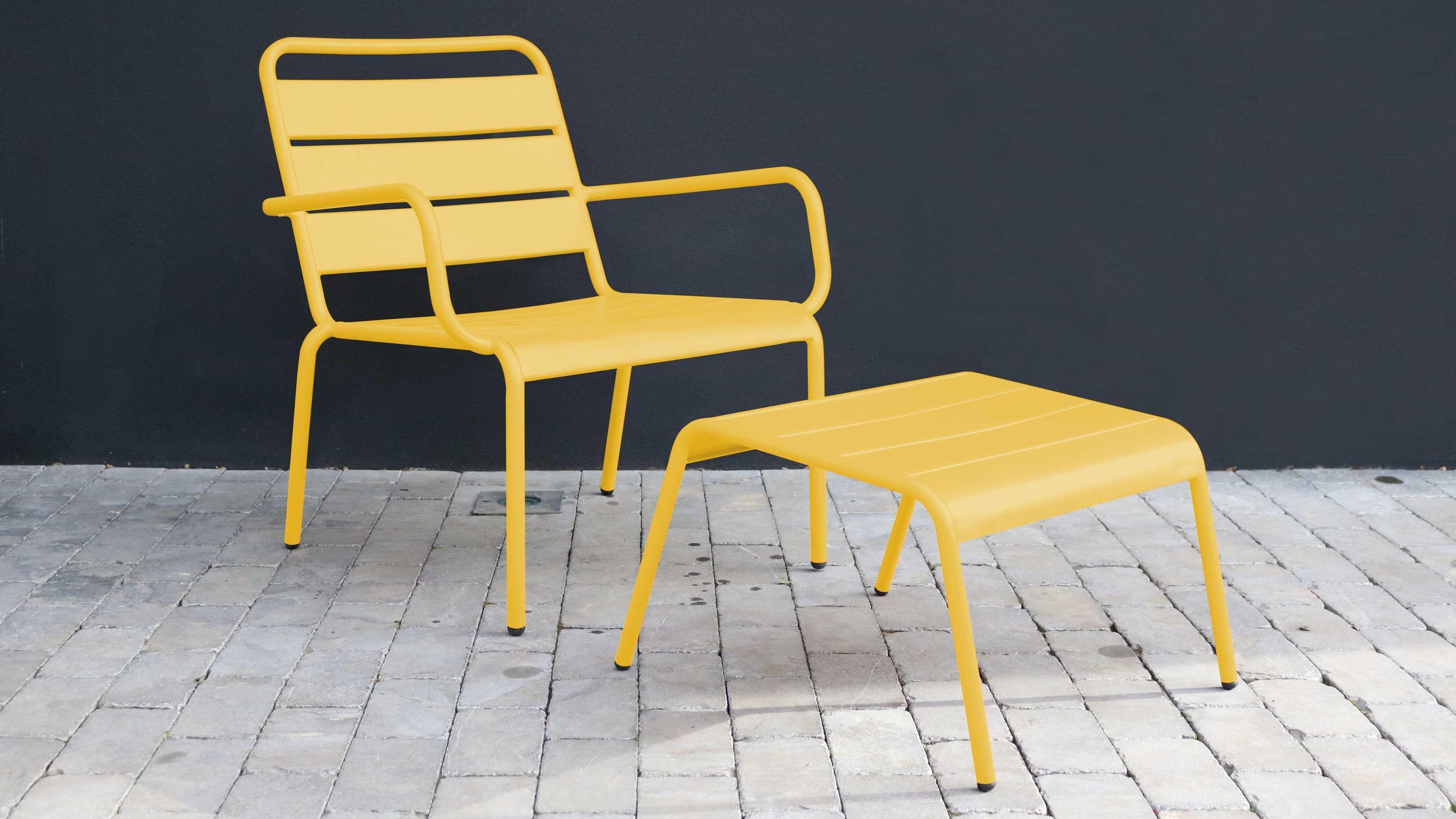 fauteuil de jardin jaune