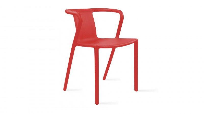chaise de jardin en plastique Berlin rouge