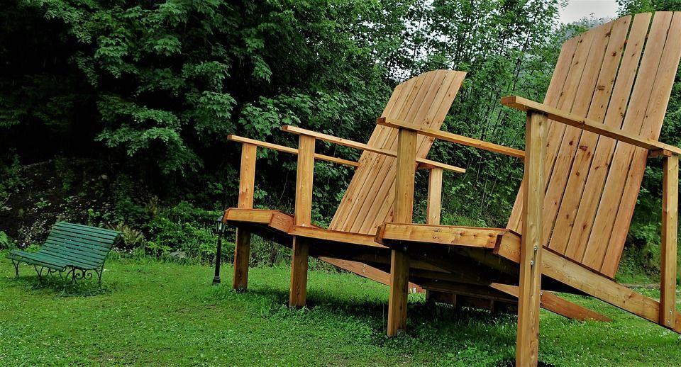 Fauteuil de jardin en bois - Oviala