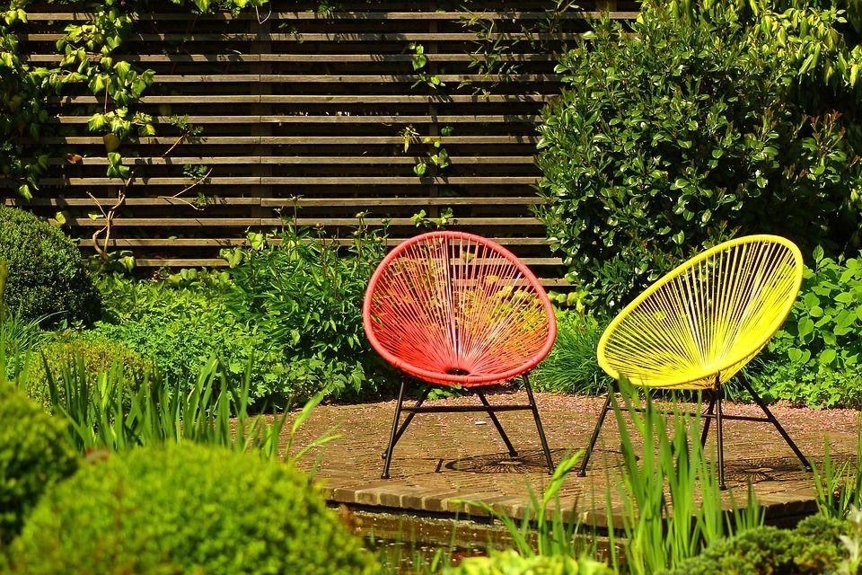 fauteuil jardin jaune accapulco