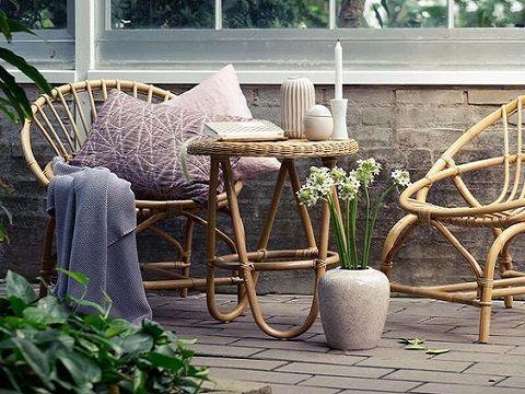 salon jardin rotin