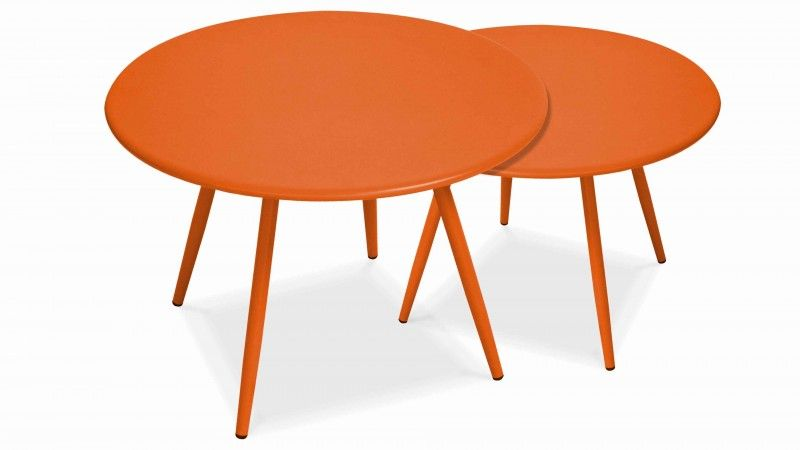 table basse jardin design orange