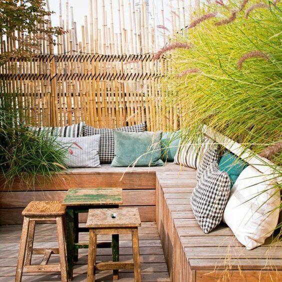 Mobilier jardin en bois