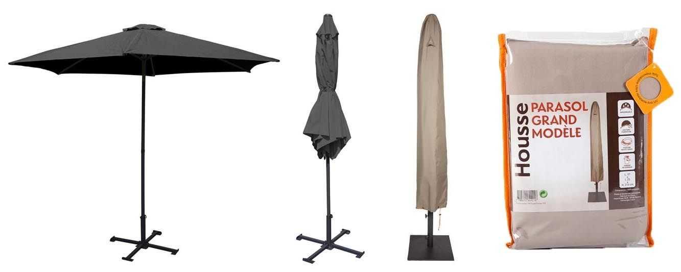 housse parasol prot gez votre mobilier de jardin oviala. Black Bedroom Furniture Sets. Home Design Ideas