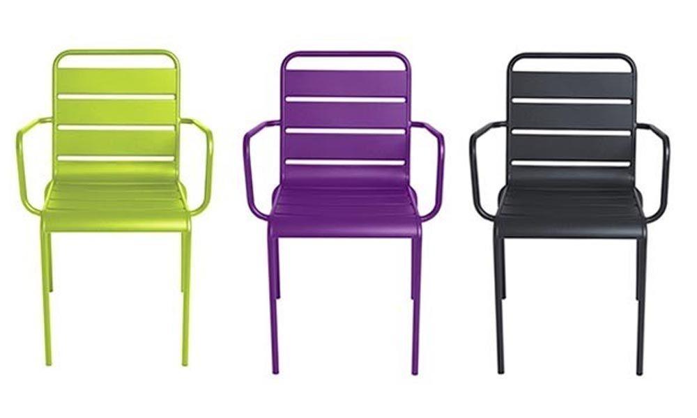 chaise jardin acier