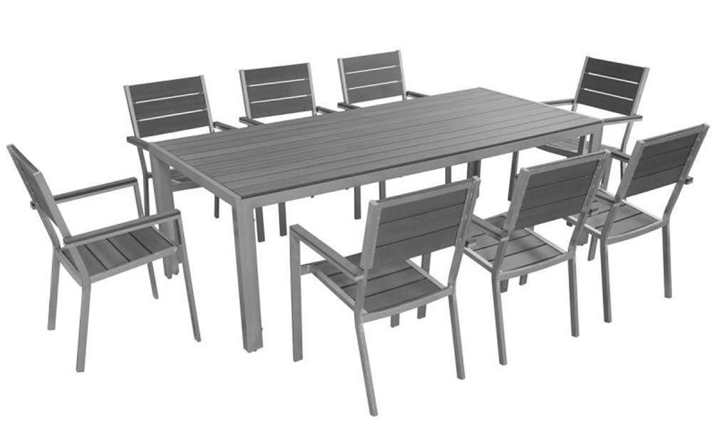 Salon de jardin en aluminium - Oviala