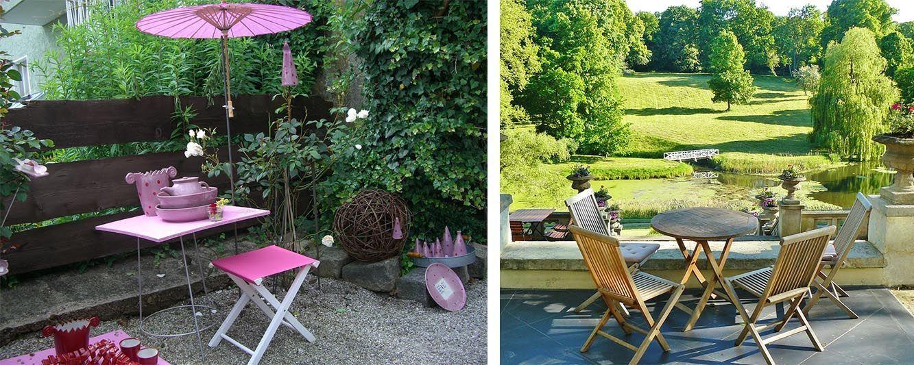 D corer une table de jardin oviala for Dans un jardin boutique