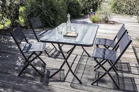 table de jardin pliante 4 places