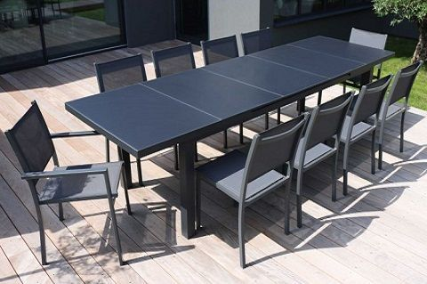grande table de jardin extensible